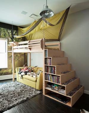 90平米现代风格创意儿童房装修效果图鉴赏
