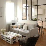 欧式风格三居室厨房客厅隔断设计效果图赏析
