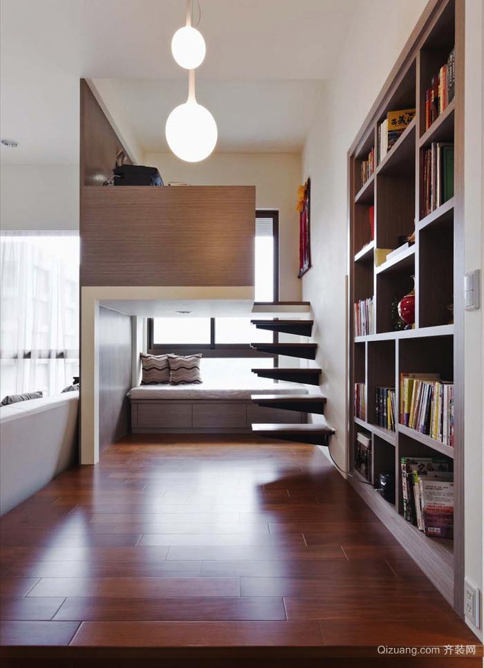 现代风格错层卧室书房装修效果图鉴赏