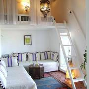 现代美式风格错层小卧室装修效果图赏析