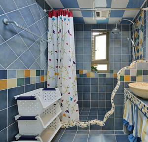 13平米地中海风格卫生间瓷砖效果图鉴赏