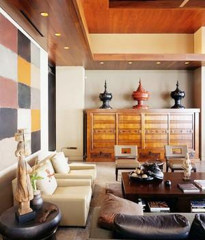 78平米东南亚风格客厅装修效果图鉴赏