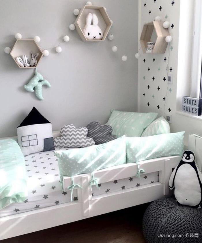 都市小清新风格三居室儿童房装修效果图鉴赏