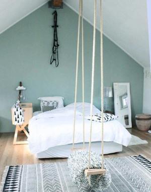 130平米简欧风格阁楼温馨卧室装修效果图鉴赏