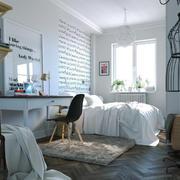 25平米极简主义风格卧室装修效果图鉴赏