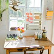 18平米现代美式风格临窗小书房装修效果图