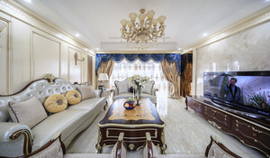 欧式风格三居室室内装修效果图赏析