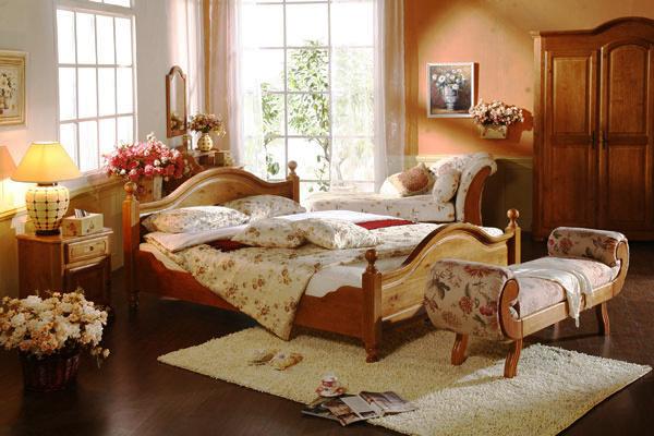 80平米欧式田园风格卧室装修效果图赏析