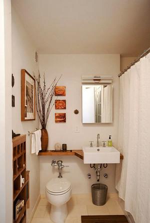 日式风格小户型卫生间装修效果图鉴赏