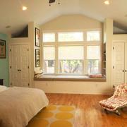 卧室现代飘窗110平米装修