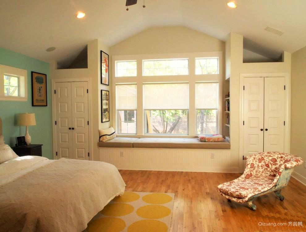 27平米现代风格卧室飘窗效果图鉴赏