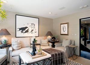现代中式风格别墅室内装修效果图赏析