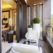 130平米后现代风格客厅阳台装修效果图鉴赏