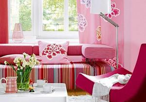 现代风格小户型粉色客厅装修效果图鉴赏