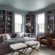 20平米美式风格书房装修效果图鉴赏