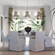 20平米现代简约风格餐厅创意吊灯效果图赏析