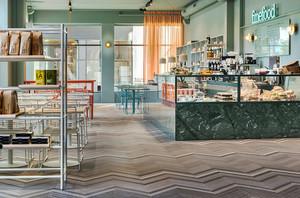 135平米极简主义风格咖啡厅装修效果图赏析