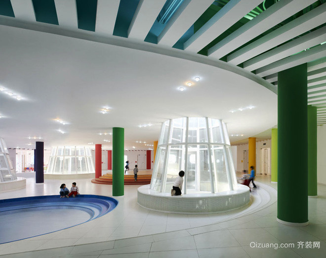 228平米现代简约风格幼儿园装修效果图赏析