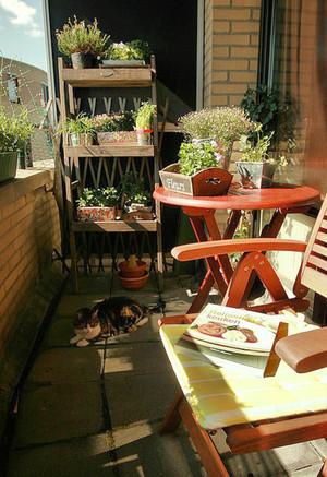 5平米美式风格阳台小花园效果图赏析