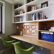 现代精致的大户型书房装修效果图鉴赏