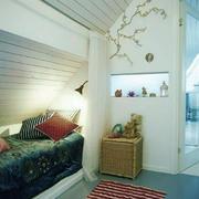 120平米北欧风格阁楼卧室装修效果图鉴赏