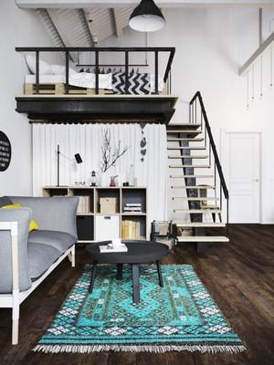 北欧简约风格错层卧室装修效果图赏析