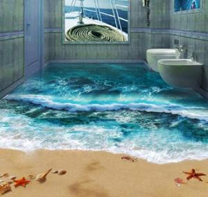 地中海风格大户型3D卫生间地板效果图赏析