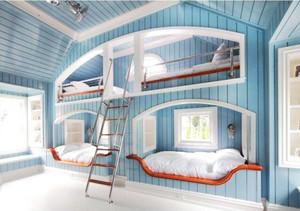 地中海风格三居室创意儿童房装修效果图鉴赏