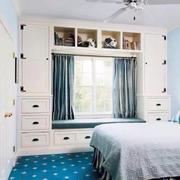 地中海风格三居室卧室飘窗设计效果图鉴赏