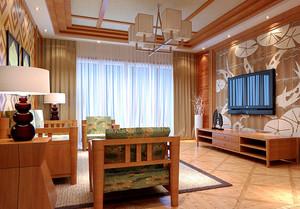 115平米东南亚风格客厅装修效果图赏析