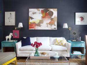 都市小清新风格女生公寓客厅装修效果图鉴赏