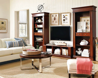 100平米仿古欧式风格客厅电视柜效果图赏析