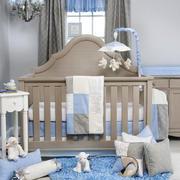 简欧风格儿童房婴儿床效果图鉴赏