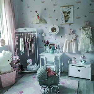 简欧风格三居室儿童房墙纸效果图赏析