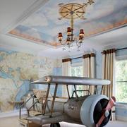 106平米欧式简约风格儿童房装修效果图赏析