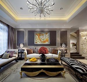 现代法式风格复式楼室内装修效果图赏析
