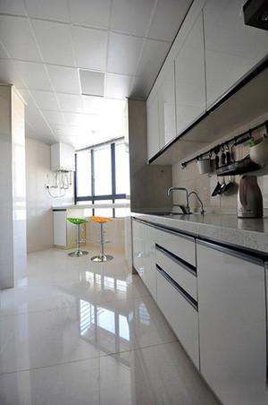 现代简约风格单身公寓厨房吧台效果图赏析