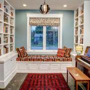 现代美式风格大户型书房飘窗设计效果图鉴赏