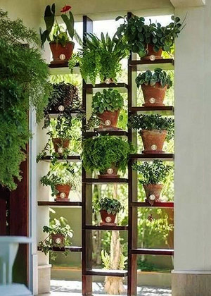 现代简约风格小户型植物背景墙效果图赏析