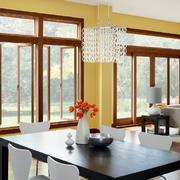 现代中式风格小户型客厅餐厅装修效果图赏析