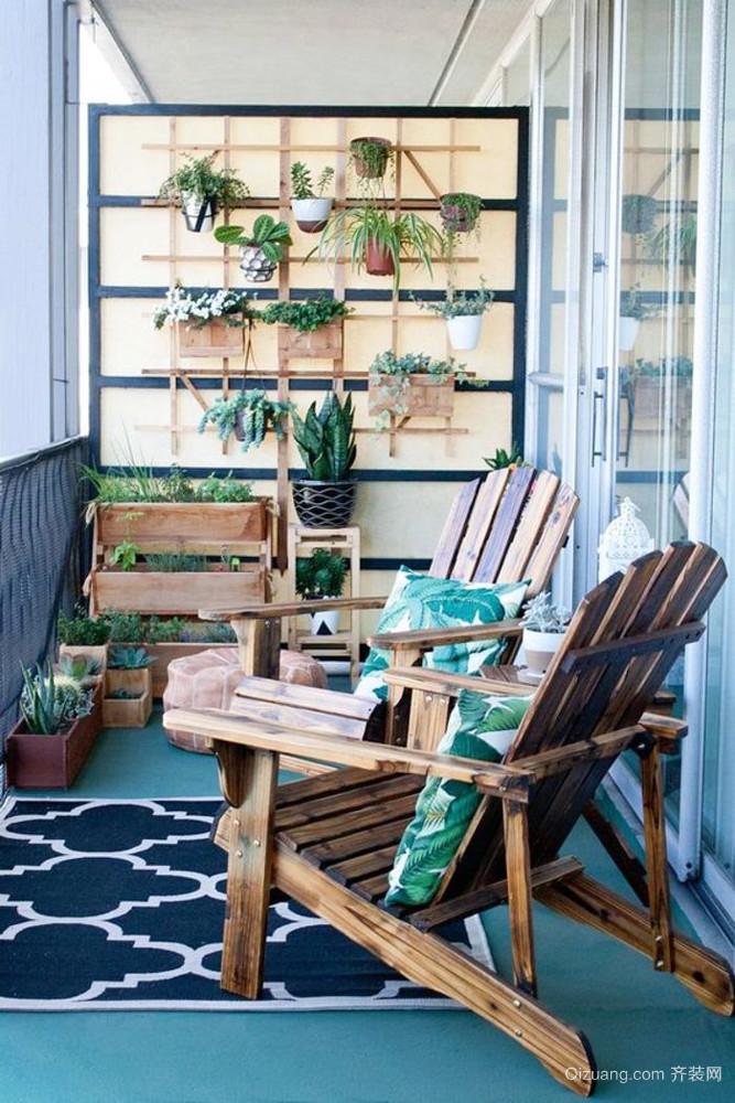 现代风格大户型阳台花园效果图赏析