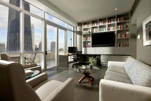 26平米现代简约风格书房带阳台装修效果图鉴赏