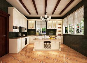 18平米欧式风格厨房白色橱柜效果图赏析