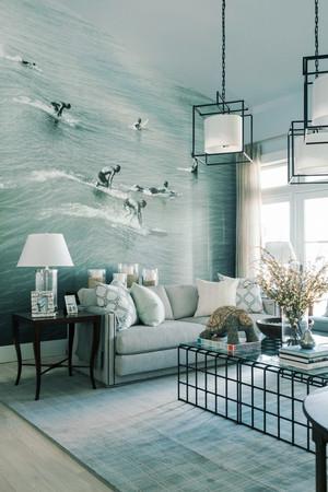 北欧风格二居室3d客厅背景墙设计效果图鉴赏