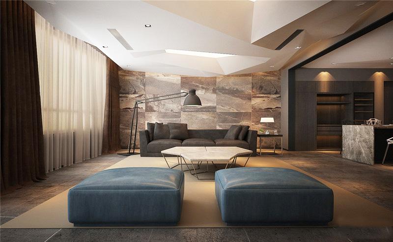 北欧风格男生公寓客厅装修效果图鉴赏