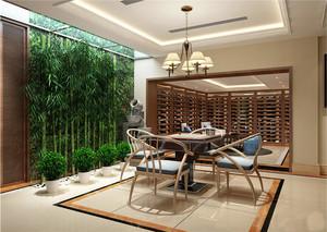 新中式风格别墅阳台装修效果图赏析