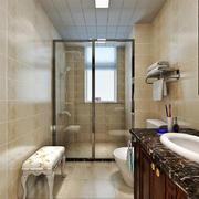 现代美式风格大户型大理石卫生间装修效果图赏析