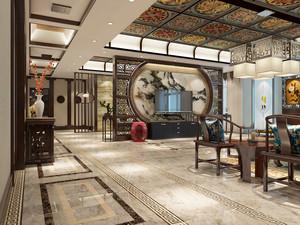新中式风格三居室客厅电视背景墙装修效果图鉴赏