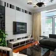 106平米现代简约风格客厅电视柜效果图赏析