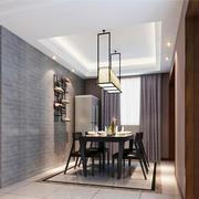 17平米新中式风格餐厅创意吊顶效果图赏析